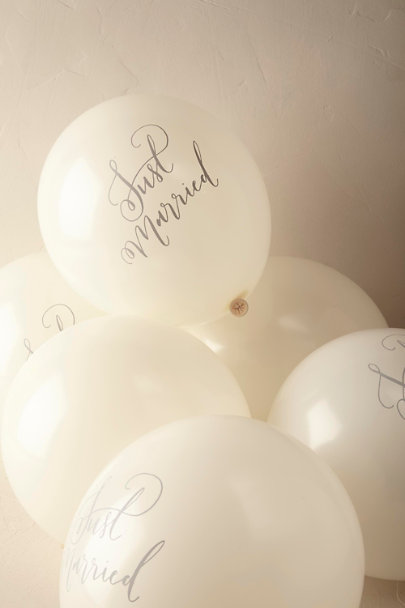 Cream Just Married Balloons (10) | BHLDN