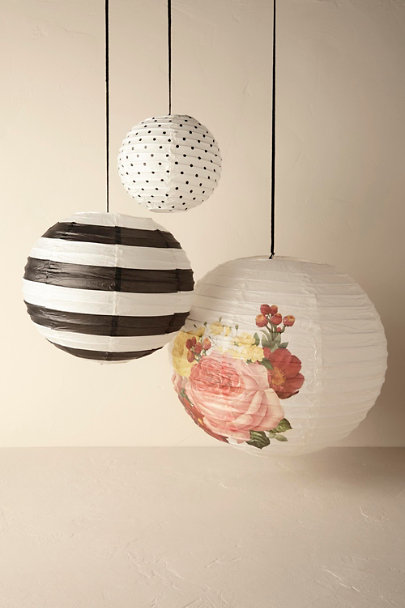 Cream Garden Party Lanterns (3) | BHLDN