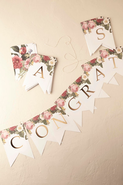 Cream Custom Garden Party Banner (57) | BHLDN