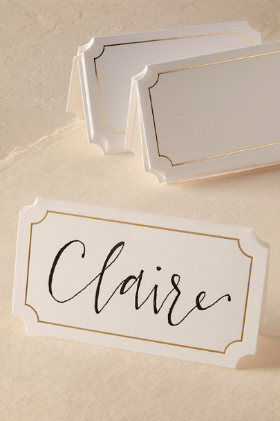 Sugar Paper White Notched Place Cards (10) | BHLDN