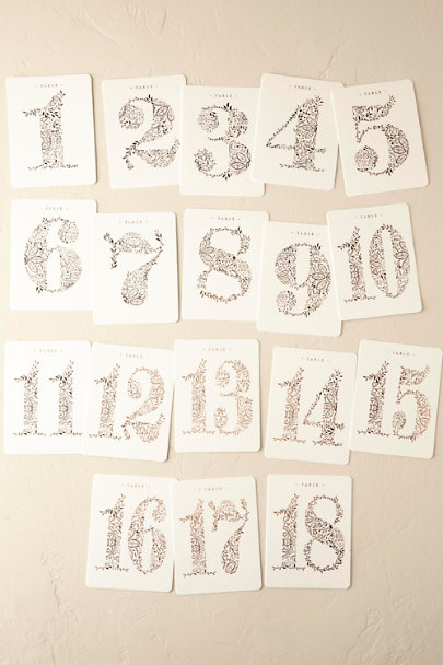 Cream Mod Copper Table Numbers (9) | BHLDN
