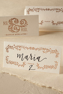 Mod Copper Place Cards (8)