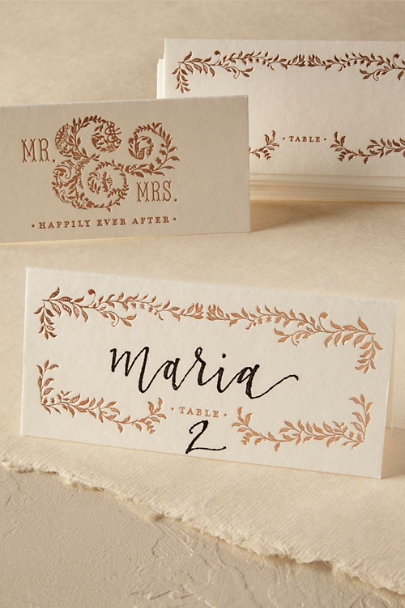 Cream Mod Copper Place Cards (8) | BHLDN