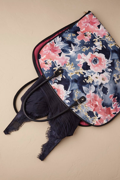 Blue Motif Floral Burst Garment Bag | BHLDN