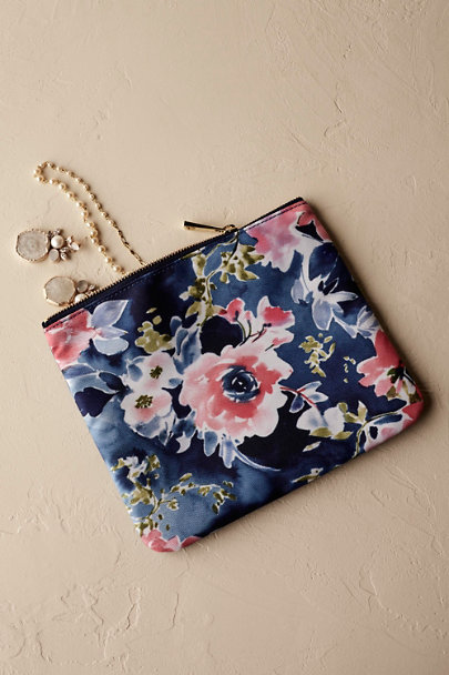 Blue Motif Floral Burst Clutch | BHLDN