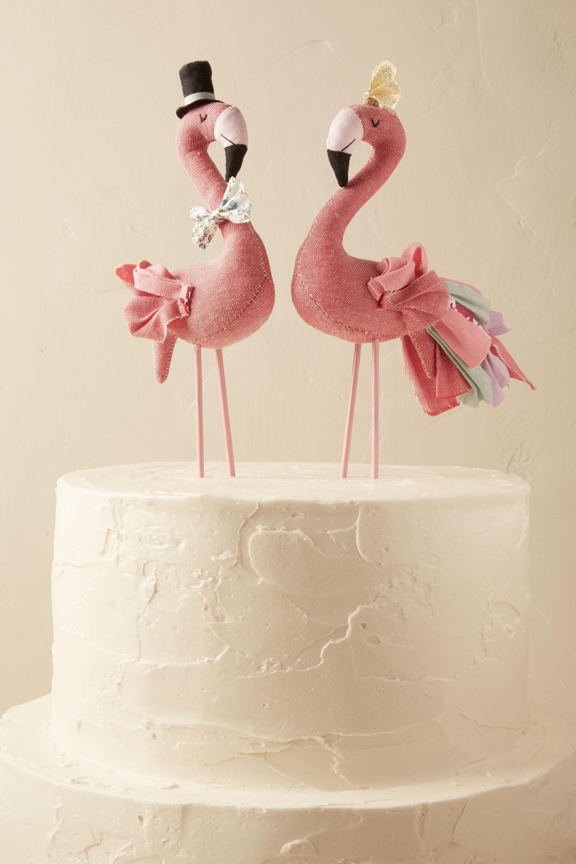 Rose Mr Mrs Flamingo Cake Topper 2 in Dcor BHLDN