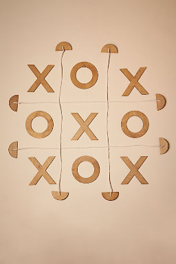 Wooden Tic-Tac-Toe Game
