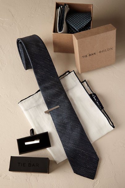 Navy Tie Bar Accessory Set | BHLDN