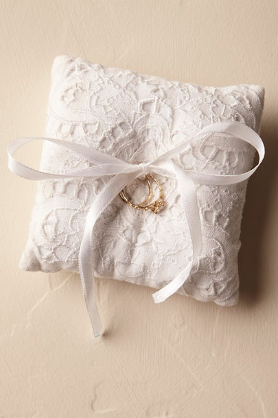 White Eyelet Ring Pillow | BHLDN