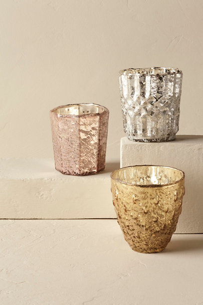 Rose Mod Mercury Votives | BHLDN