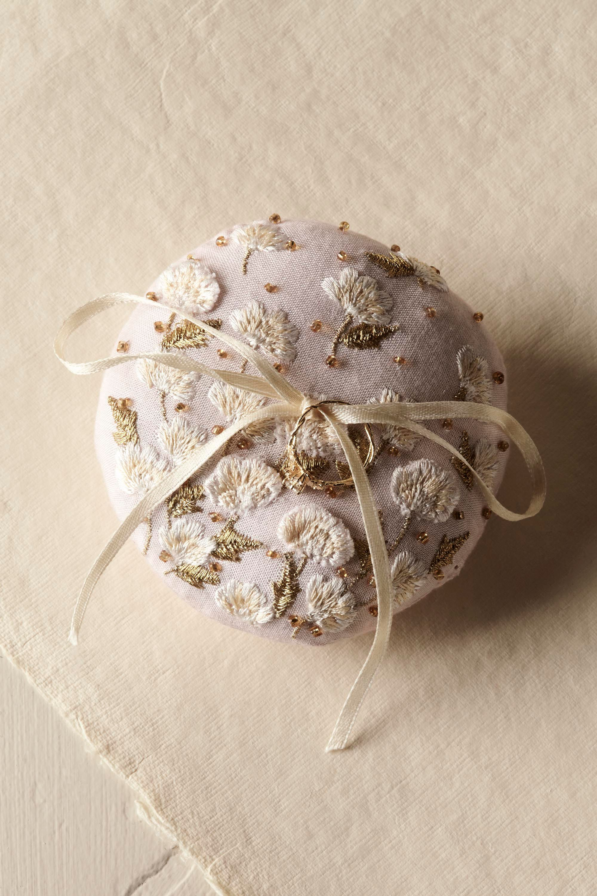 Field of Flowers Ring Pillow