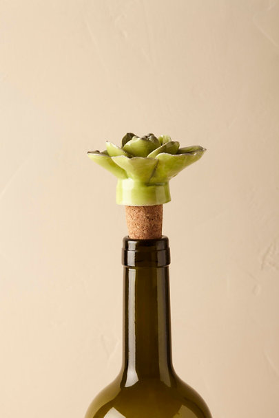 Lime Succulent Bottle Stopper | BHLDN