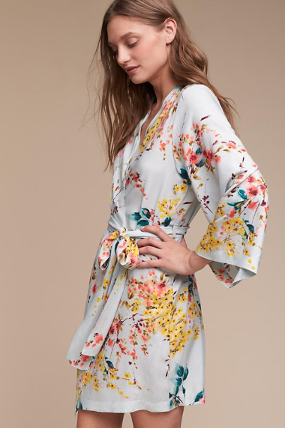 Plum Pretty Sugar Wildflower Botanic Garden Robe | BHLDN