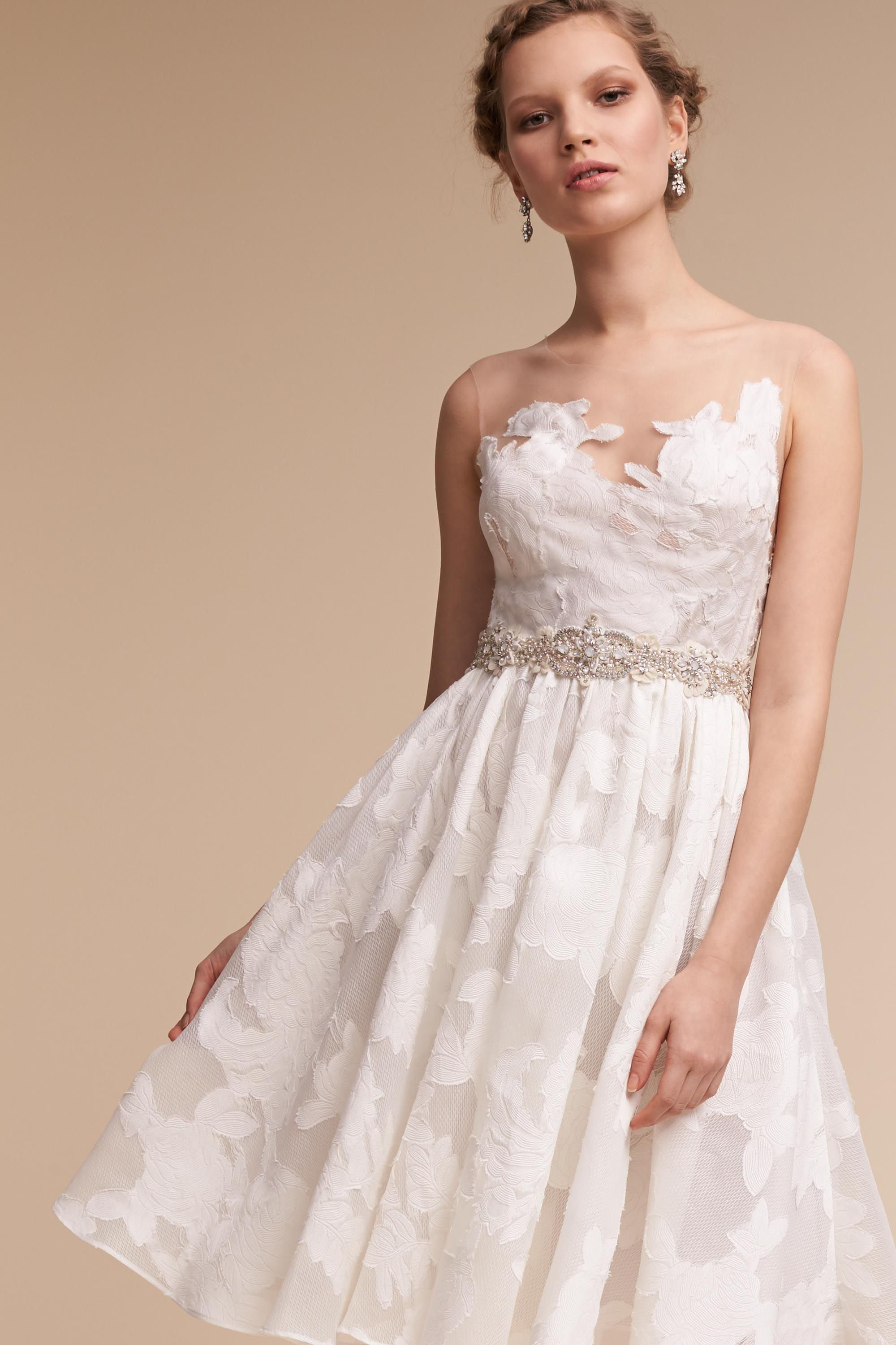 Romantic BHLDN Wedding Rehearsal Dresses - Colletta Dress