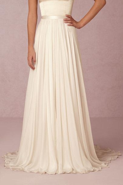 Delia Maxi Skirt Ivory In Bride Bhldn