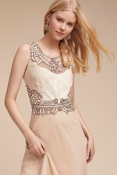 Adrianna Papell Beige Kyle Dress  | BHLDN