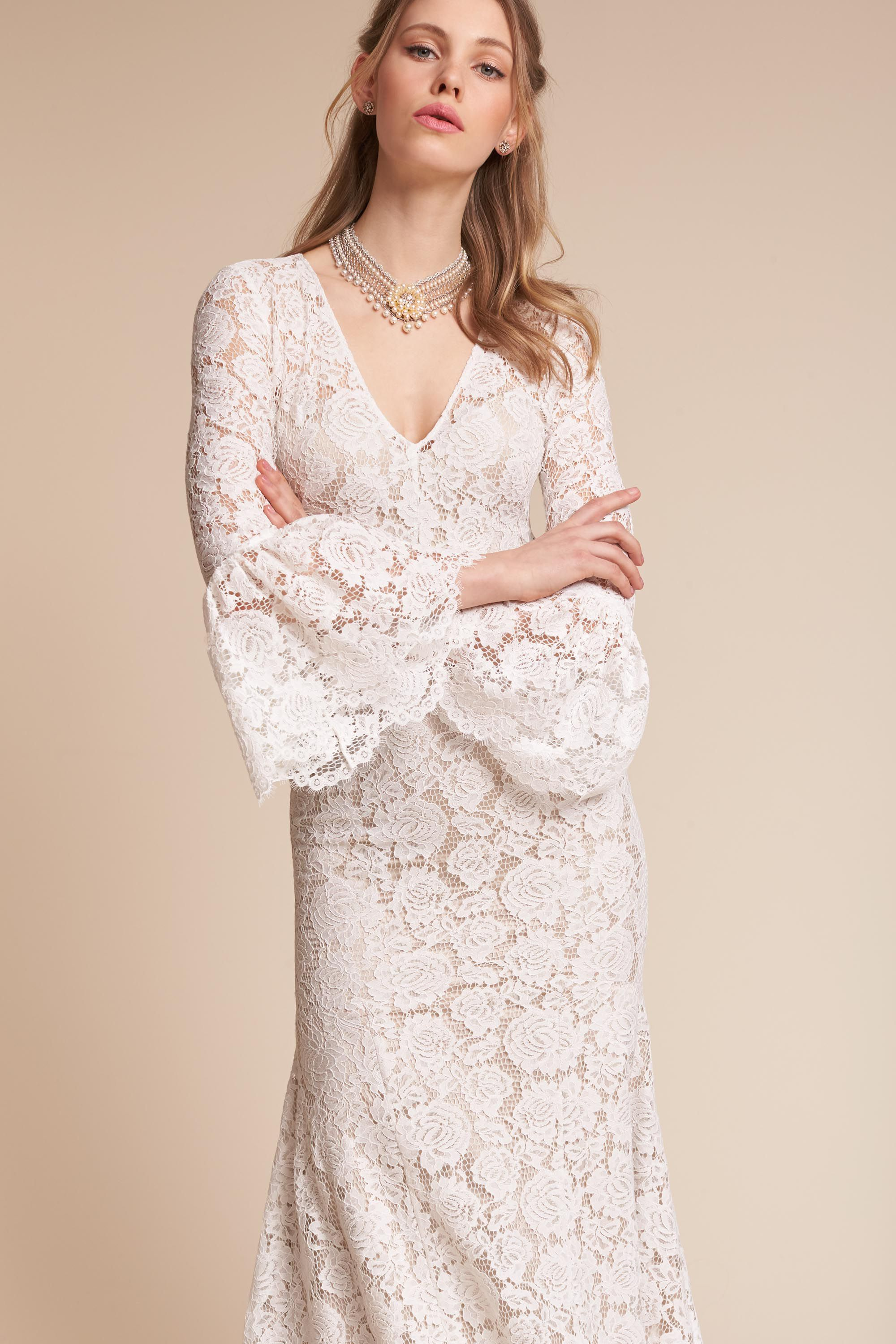 Wedding Dresses With Sleeves wedding dresses with sleeves long lace cap sleeve bhldn harbor gown gown