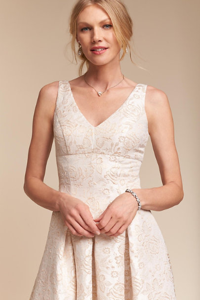 Rose Gold Jacquard Lincoln Dress | BHLDN