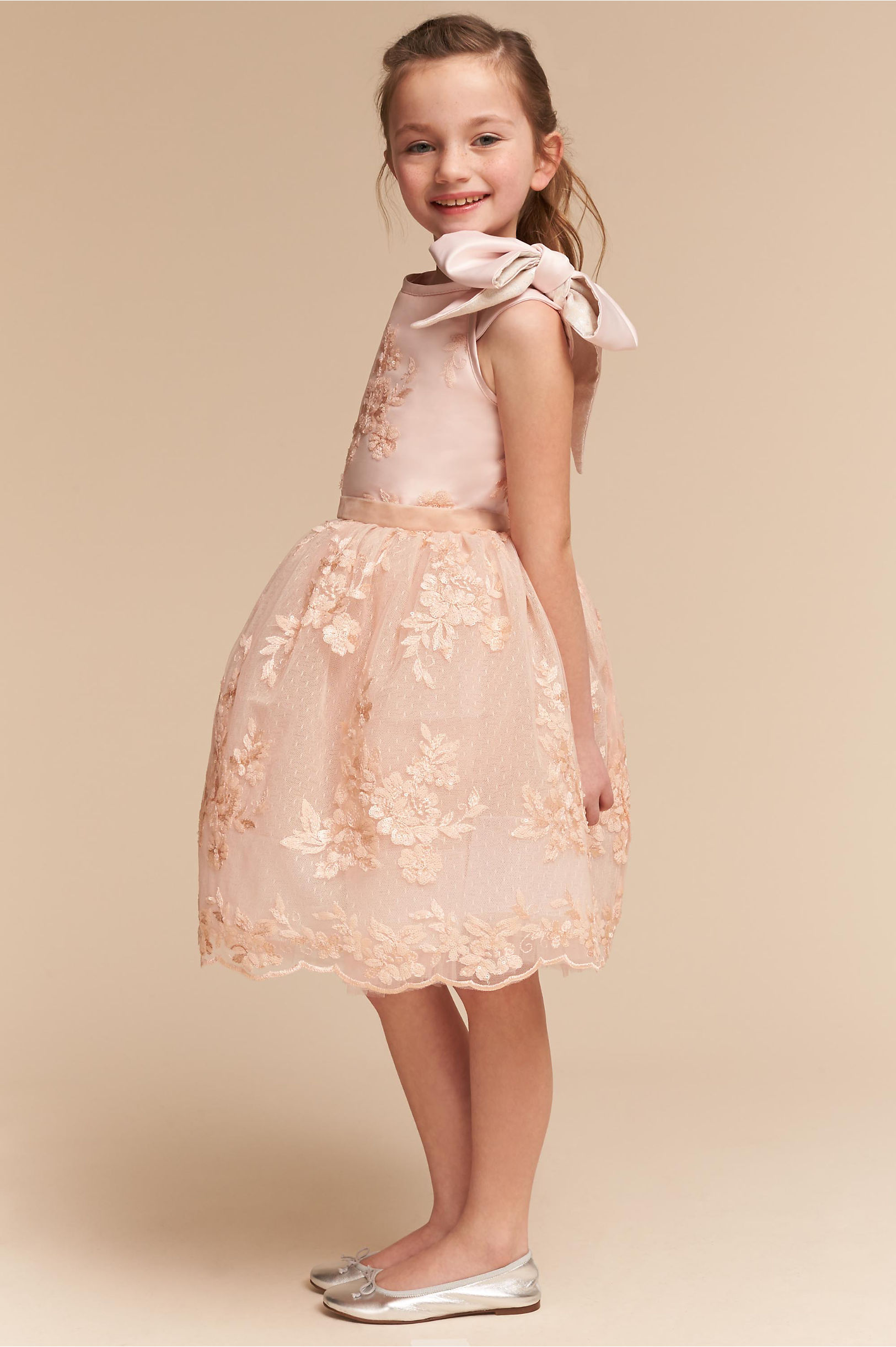 Flower Girl Dresses - Ivory &amp- White Flower Girls&-39- Dresses - BHLDN