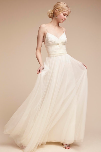 Tinsley Dress Ivory In Bride Bhldn