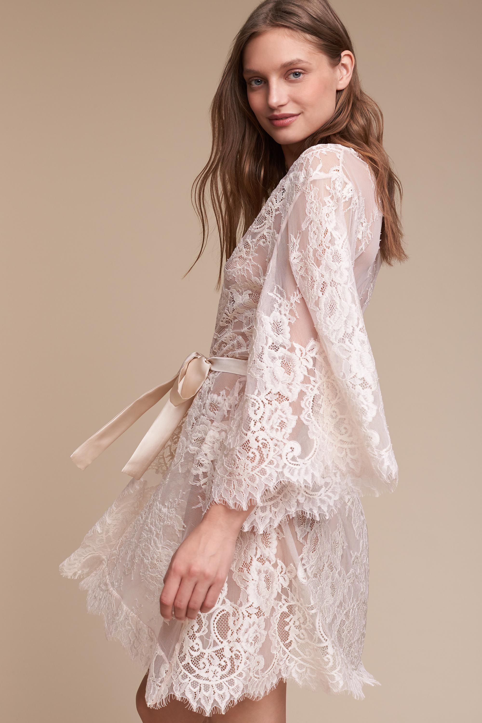 Wedding Bride Robe prita robe in bride bhldn blush bhldn