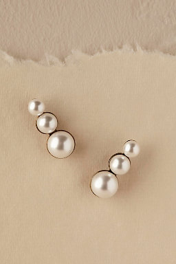 Trois Pearl Earrings