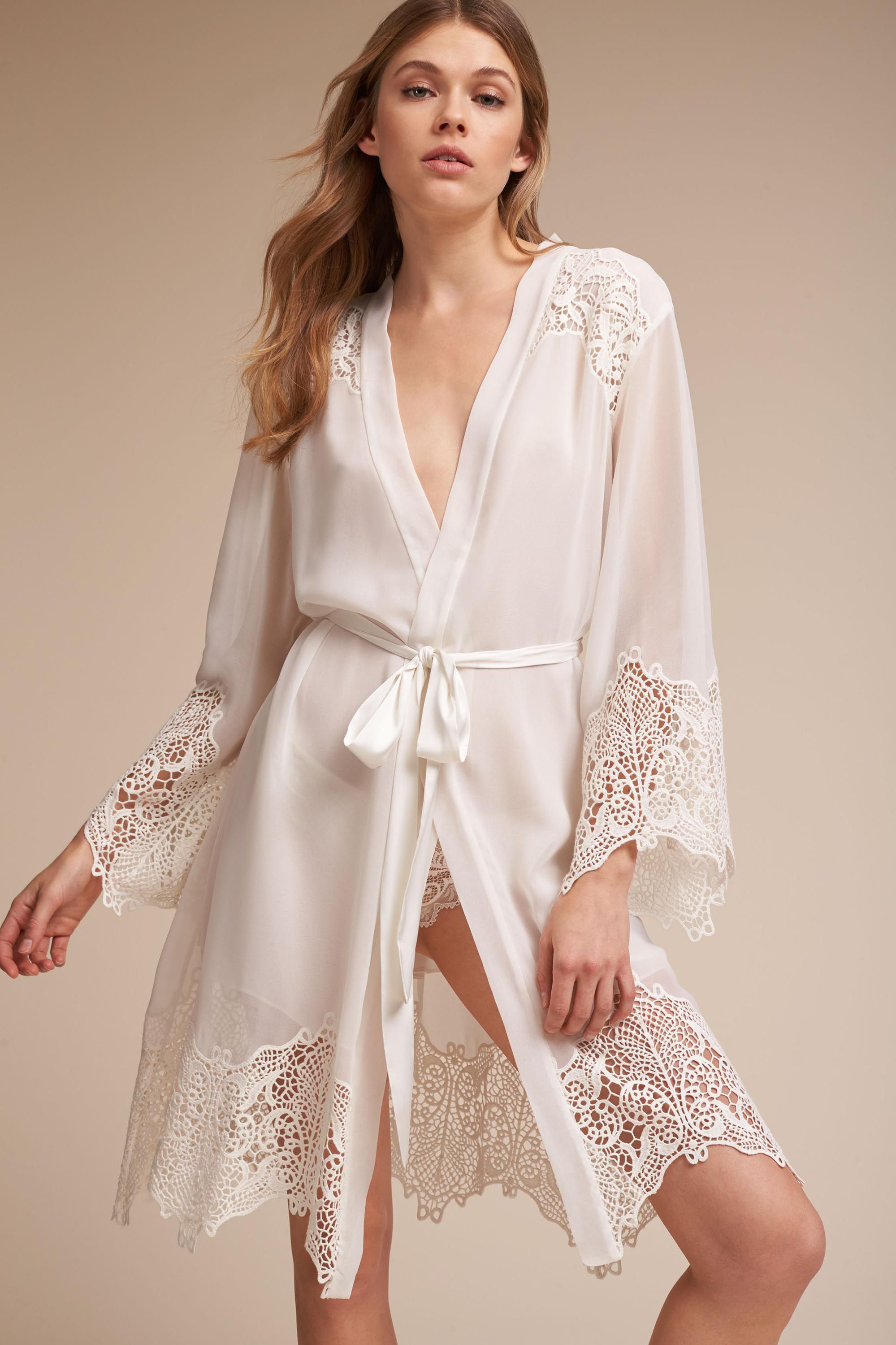 Wedding Bride Robe vilmena robe in bride bhldn ivory bhldn