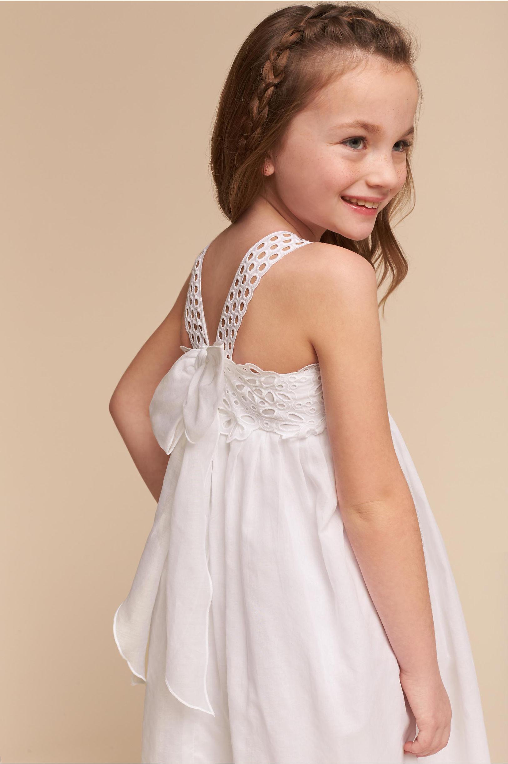 Flower Girl Dresses - Ivory &amp- White Flower Girls&-39- Dresses - BHLDN