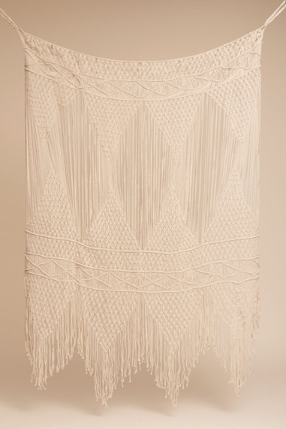 Cream Macrame Backdrop | BHLDN