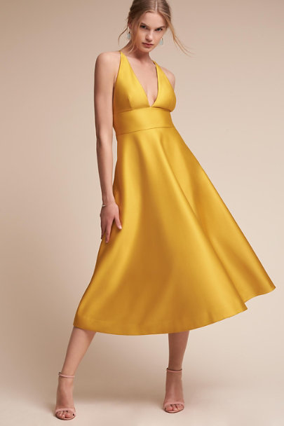 Hitherto Chartreuse Shelby Dress | BHLDN