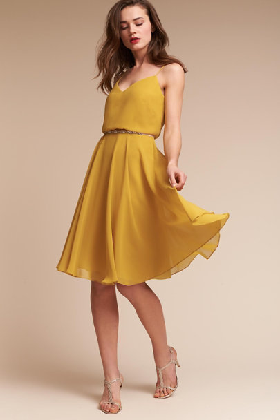 Jenny Yoo Chartreuse Sienna Dress | BHLDN