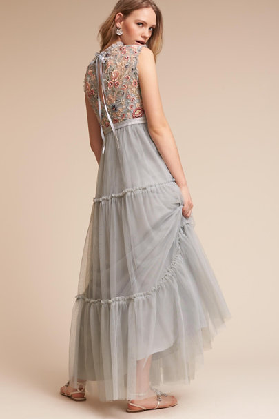 Needle & Thread Ash Blue Wanderer Dress | BHLDN