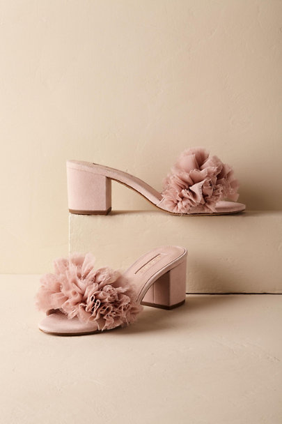 Rose Shira Ruffled Slides | BHLDN