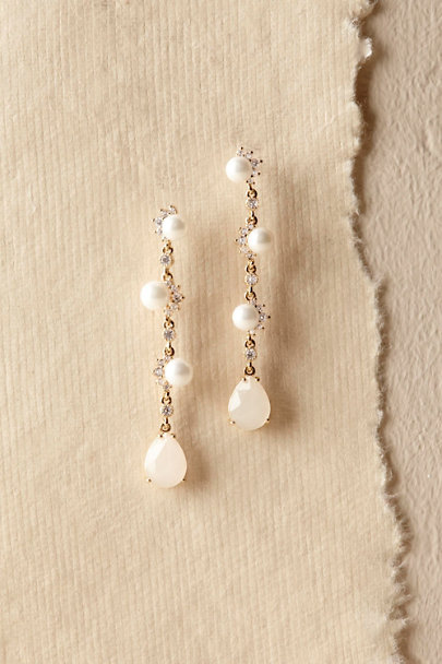 Gold Makara Drop Earrings | BHLDN