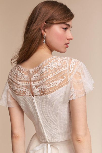 Geisha Designs Ivory Papillon Top | BHLDN