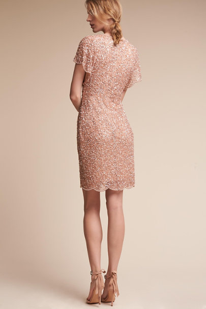 Adrianna Papell Rose Gold Elin Dress | BHLDN
