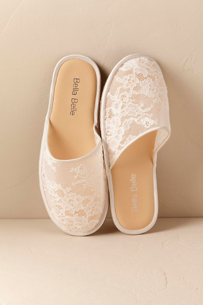 Bella Belle Ivory Priscilla Slippers | BHLDN