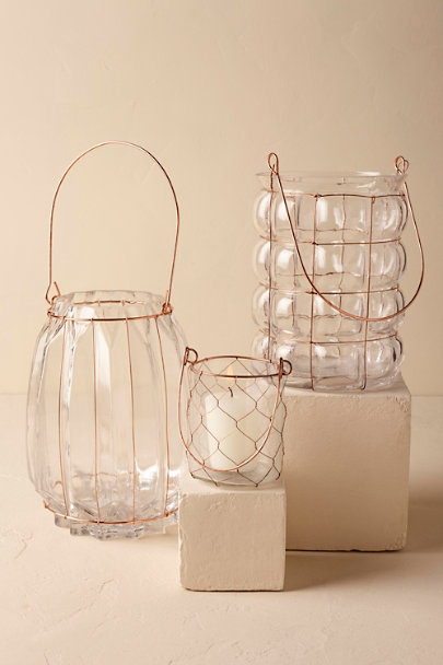 Copper Firefly Glass Lanterns | BHLDN