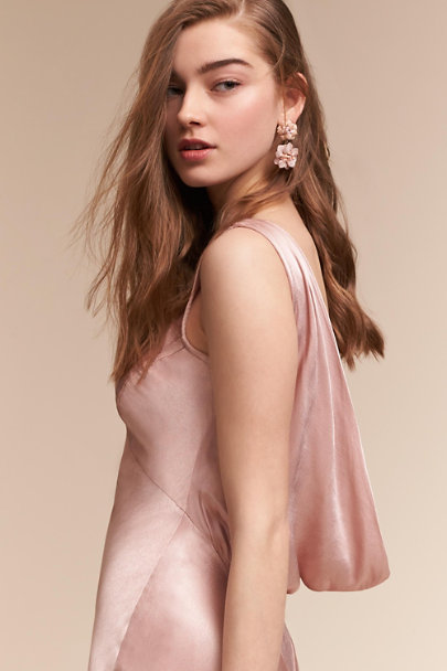 Silver Blushing Blossoms Earrings  | BHLDN