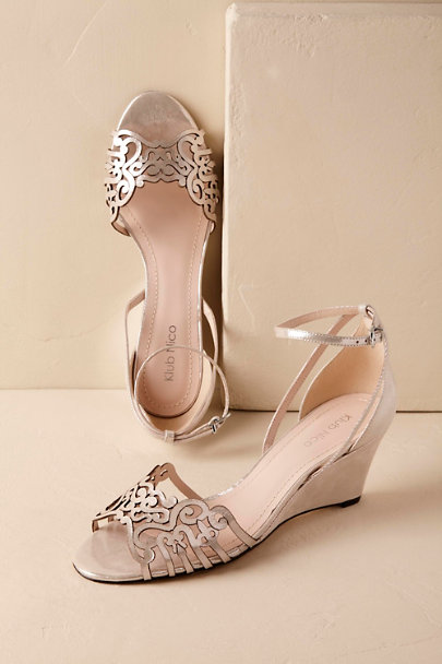 Silver Kingston Wedge | BHLDN