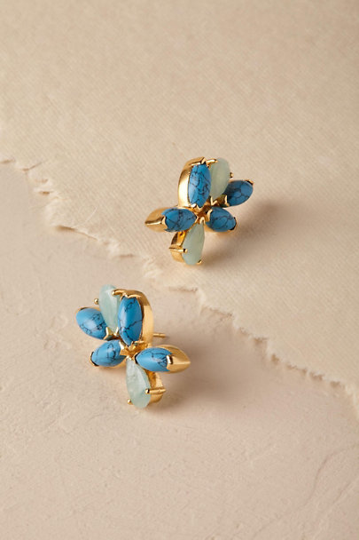 Gold Anila Gemstone Earrings | BHLDN