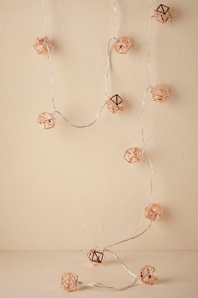 Copper Geo String Lights  | BHLDN
