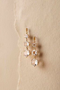 Geo Crystal Drop Earrings