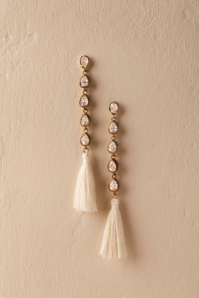 Serefina Gold Astrabel Tassel Earrings | BHLDN
