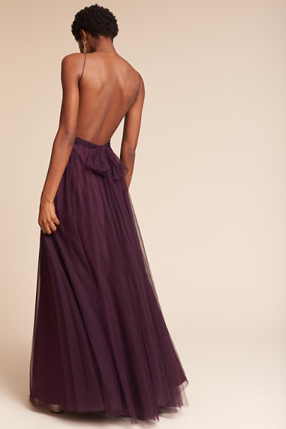 Watters Eggplant Tinsley Dress | BHLDN