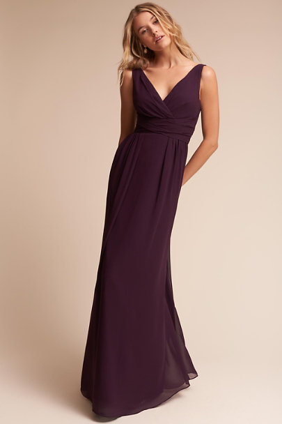 Watters Aubergine Carnegie Dress | BHLDN