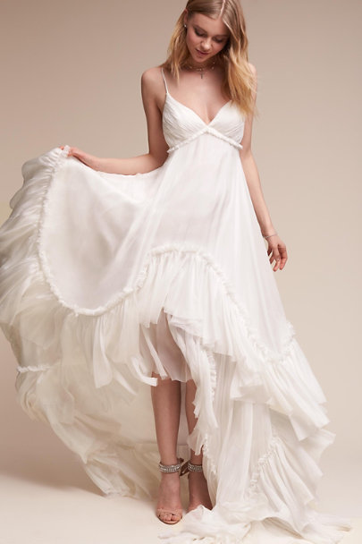 Simple Wedding Dress Boutique : Ivory soie gown in bride bhldn