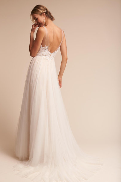 Watters Ivory/Champagne Heritage Gown | BHLDN