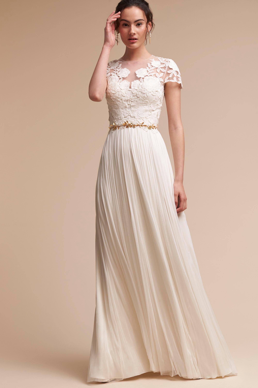 Long Sleeve Wedding Dresses Long Cap Sleeve BHLDN