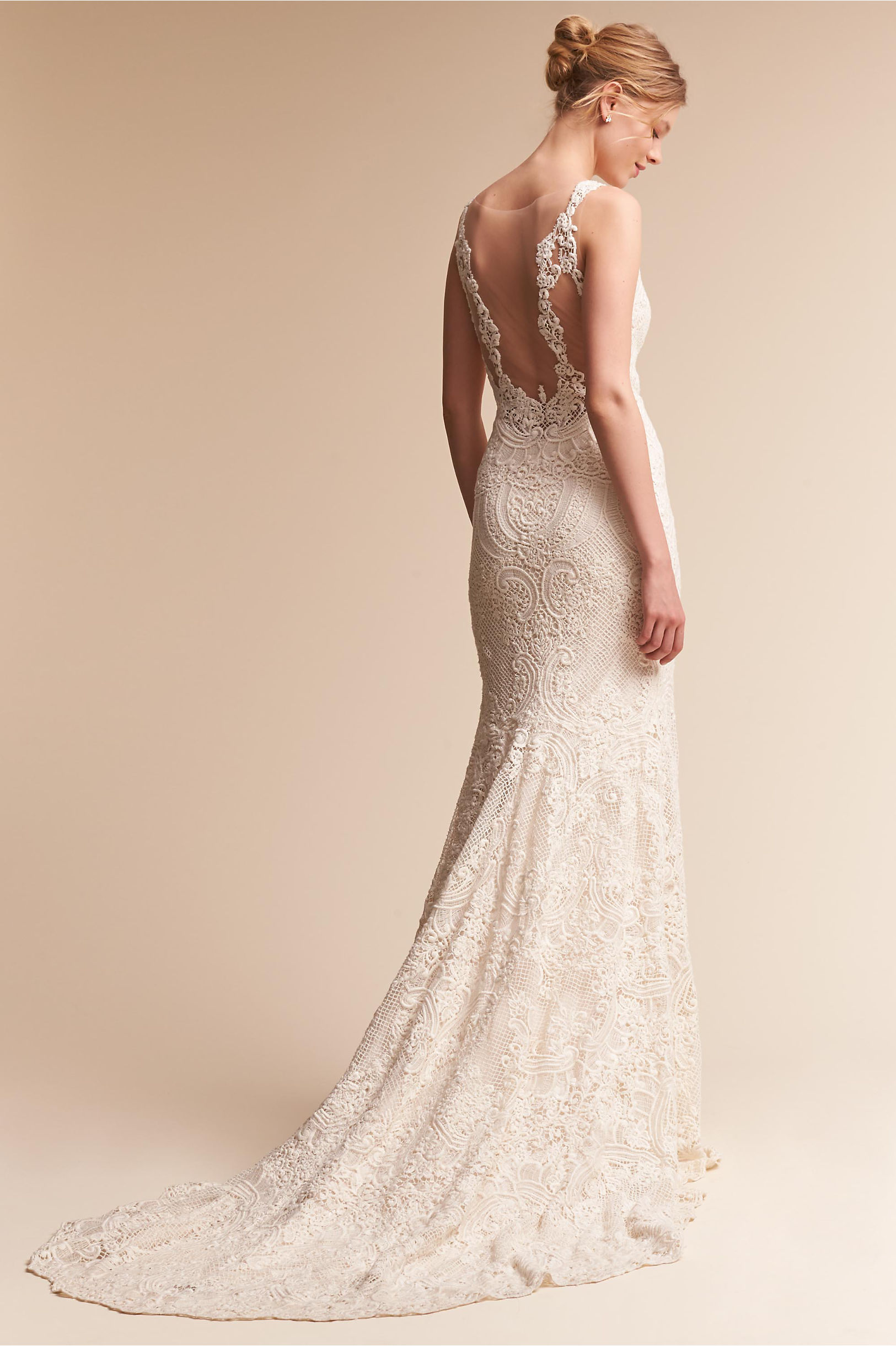 Low Back Wedding Dresses & Backless Gowns | BHLDN